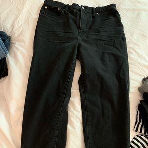 Madewell Black classic straight jean size 32